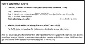 How to Get Jio Prime Membership Benefits ?