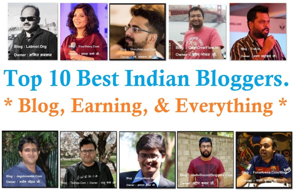 Top 10 Best Indian Bloggers Blog Earning Everything Nirajforhelp.com 1