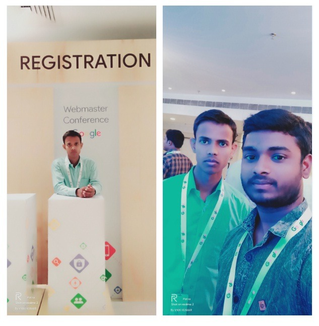 Niraj Kumar and his friend at Webmaster Confrense 2019 Patna