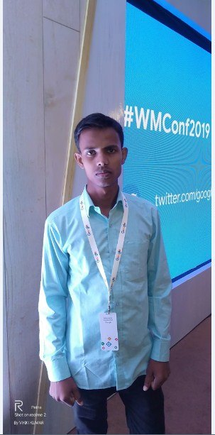 Niraj kumar on the Stage of Webmaster Confrence 2019 in Patna
