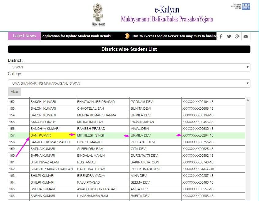 मुख्यमंत्री बालक-बालिका 10th Pass प्रोत्साहन योजना लिस्ट में अपना नाम देखे