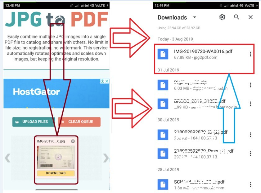 आपके Browser के Download Option में दिखने लगेगा.