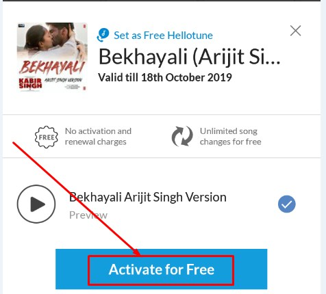 Activate Free Caller tune on Airtel Wynk App