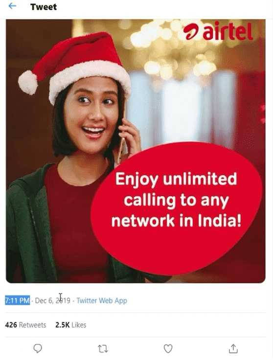 Airtel - Enjoy Unlimited Calling to any network in india