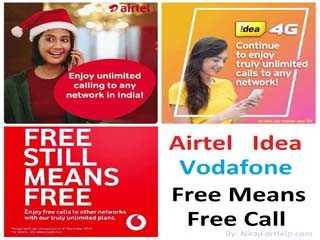 Airtel-Idea-Vodafone Free Means Free Call Offer by Nirajforhelp