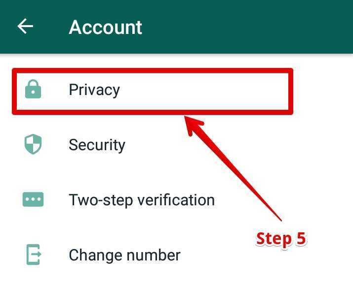 यहाँ पर आपको Privacy पर Click करना है