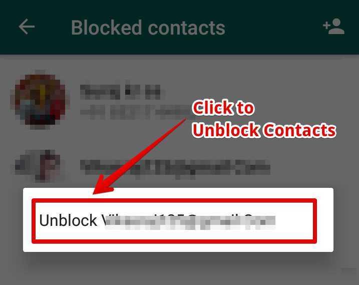 Unblock वाले आप्शन पर Click करके उन्हें Unblock कर देना है