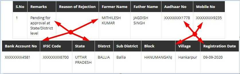 Kisan Registration Details on PMKisan.Gov.IN Portal