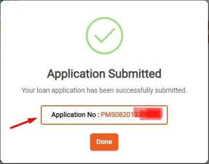 Alert Applicatio Submited for PM sannidhi yojana