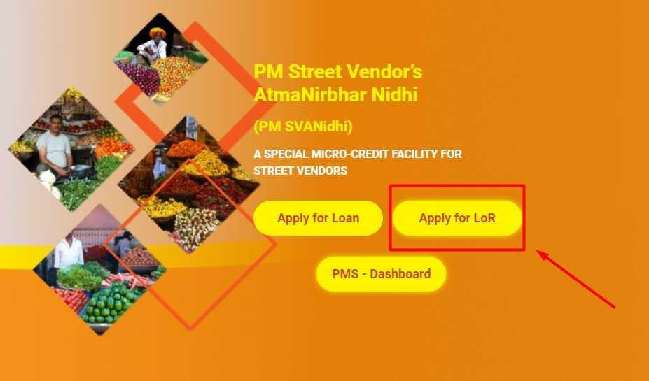 Apply for LoR (Letter Of Recommendation) on PM SVANidhi Website