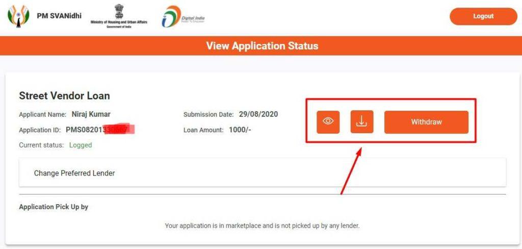 Download Application form for PM Svanidhi Yojana
