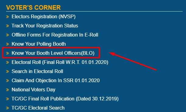 Know Your Booth Level Officers(BLO) Bihar