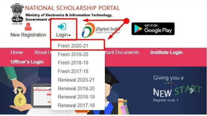 National Scholarship Portal Login Fresh