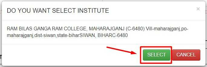 Select Your Institute for Scholar Apply on NSP Website 3