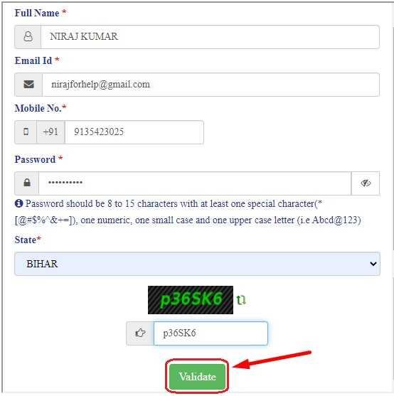ServicePlus Registration Process for All State Online Bihar