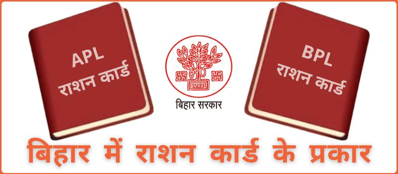 Types Of Ration Card In Bihar  बिहार में राशन कार्ड के प्रकार