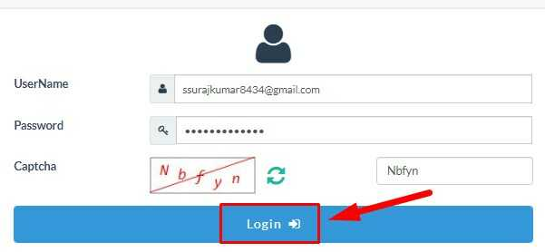 Login with User Name & Password on NVSP Portal
