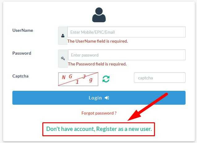 Registration Process on NVSP Website