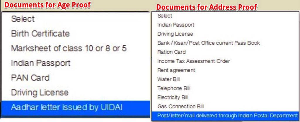 Voter ID Card Online Apply के लिए Documents