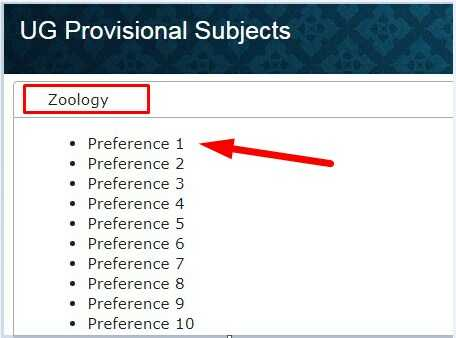 JP University UG Merit List Download
