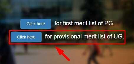 JP University UG Merit List