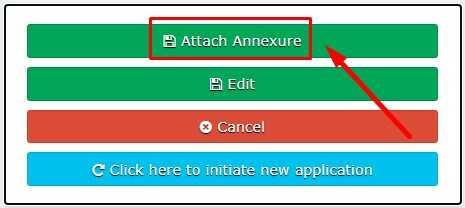 Attach Annexure button click for Service Plus Bihar Website Online Certificate Apply