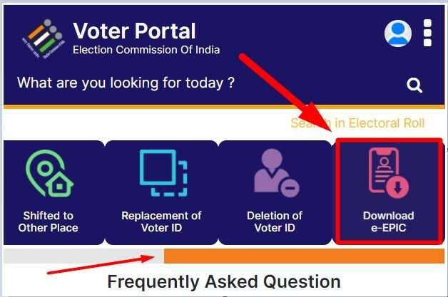 Download Digital E Voter ID Card via Voter Portal Website