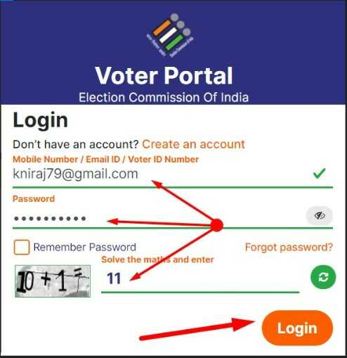 Download e EPIC via Voterportal.eci.gov.in website in pdf format