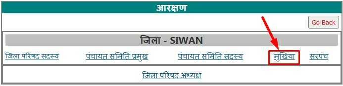Select जिला परिषद सदस्य, पंचायत समिति प्रमुख, पंचायत समिति सदस्य, मुखिया और सरपंच for Bihar Election Reservation List See
