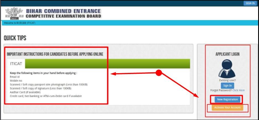 Bihar ITI Application Form Online Apply