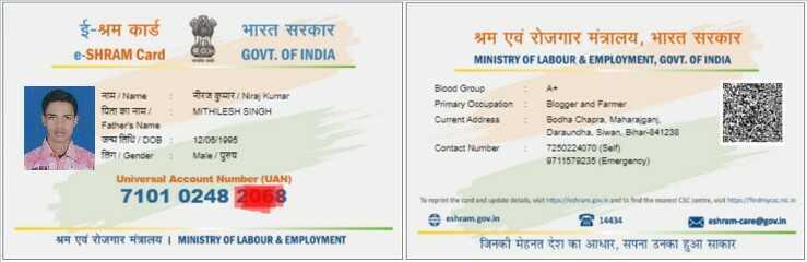 ई-श्रम कार्ड क्या है What is E Shram Card