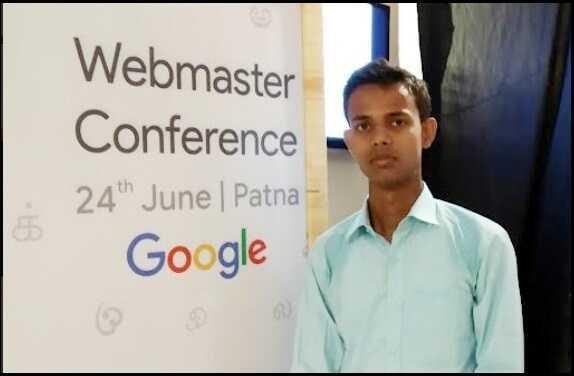 Nirajforhelp.com Owner Niraj Kumar's Photo at Google Webmaster Conference Patna