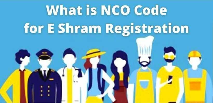 What is NCO Code for E Shram Registration