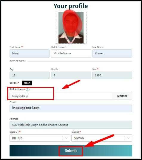 Health ID Card Online Registration & Apply Form